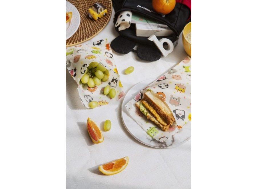 """Sandwich & Snack Beutel """"Kinder"""" 2er Set von nuts"""