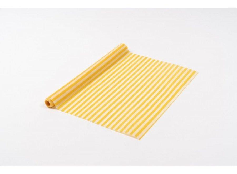 """Bienenwachstuch Rolle """"gelbe Streifen"""" von nuts"""
