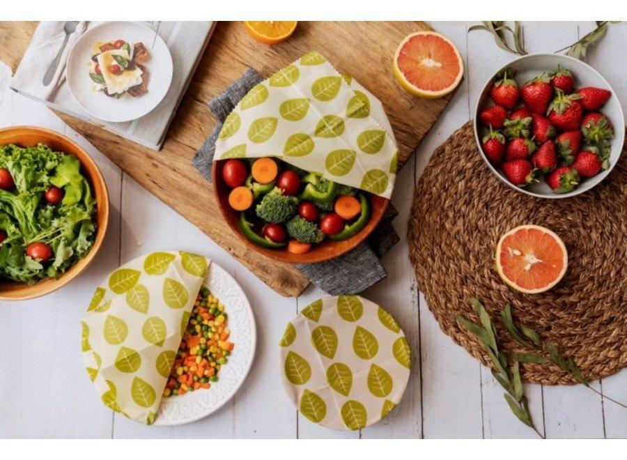 """Veganes Pflanzenwachstuch """"Grüne Blätter"""" 1 Stk von nuts"""