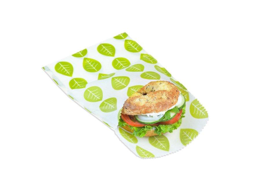 """Vegane Sandwich & Snack Beutel """"Grüne Blätter"""" 2er Set von nuts"""