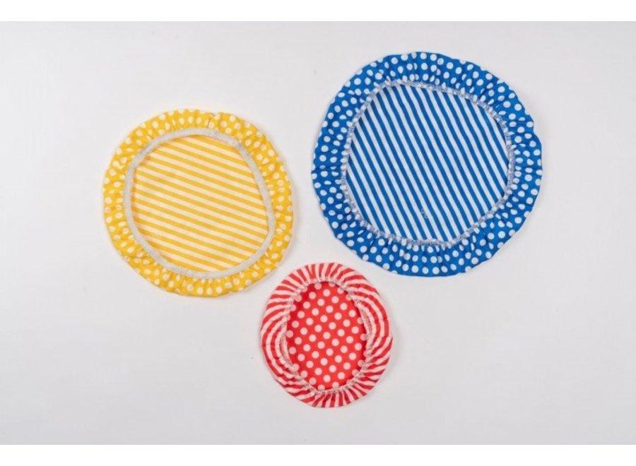 """Textil Schüsselabdeckungen """"Streifen"""" 3er Set von nuts"""