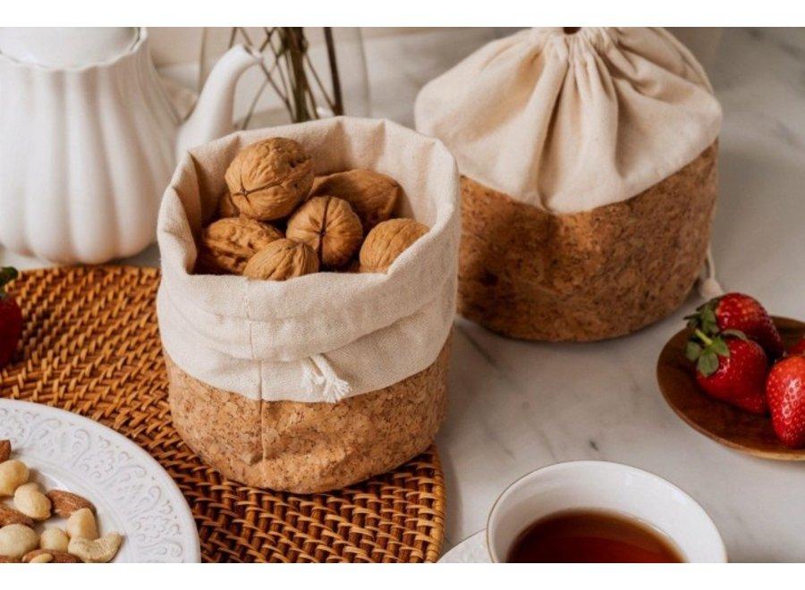 Kork Brotsack - Früchtekorb S von nuts