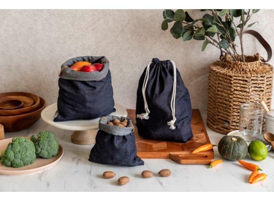"""Obst & Gemüsebeutel """"Jeans"""" 3er Set von nuts"""