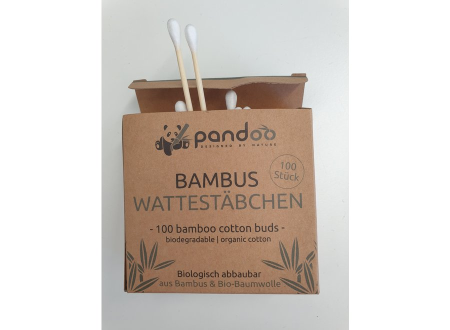 Pandoo Bambus Wattestäbchen 100 Stück