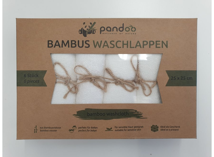Bambus Waschlappen 6 Stück von Pandoo