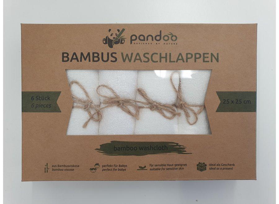 Pandoo Bambus Waschlappen 6 Stück