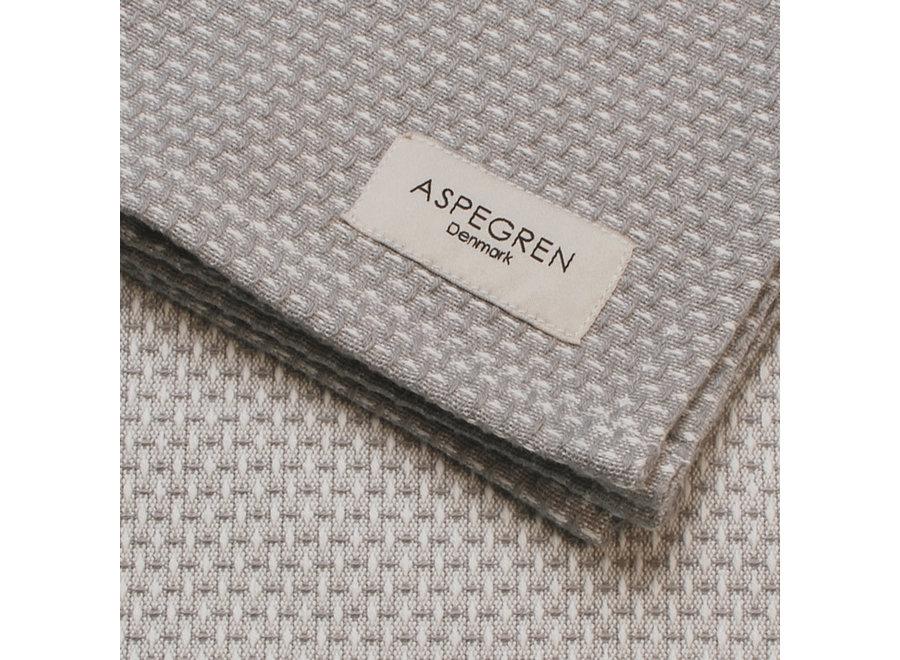 Abwaschtuch Waffel Design in Grau von Aspegren