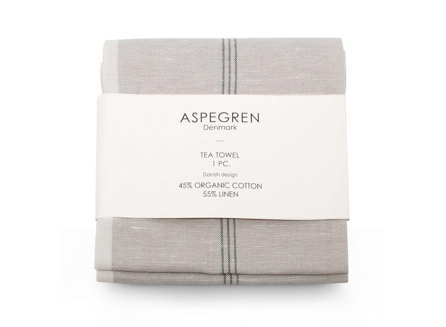Aspegren Abwaschtuch Pinestripes l Silver Gray