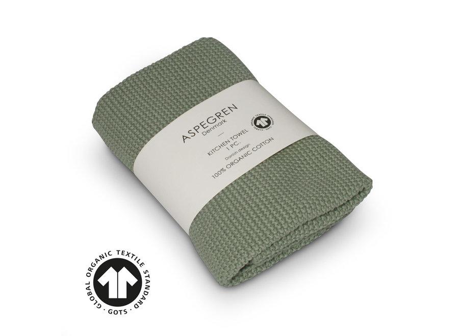 Handtuch gestrickt in Solid Mint von Aspegren