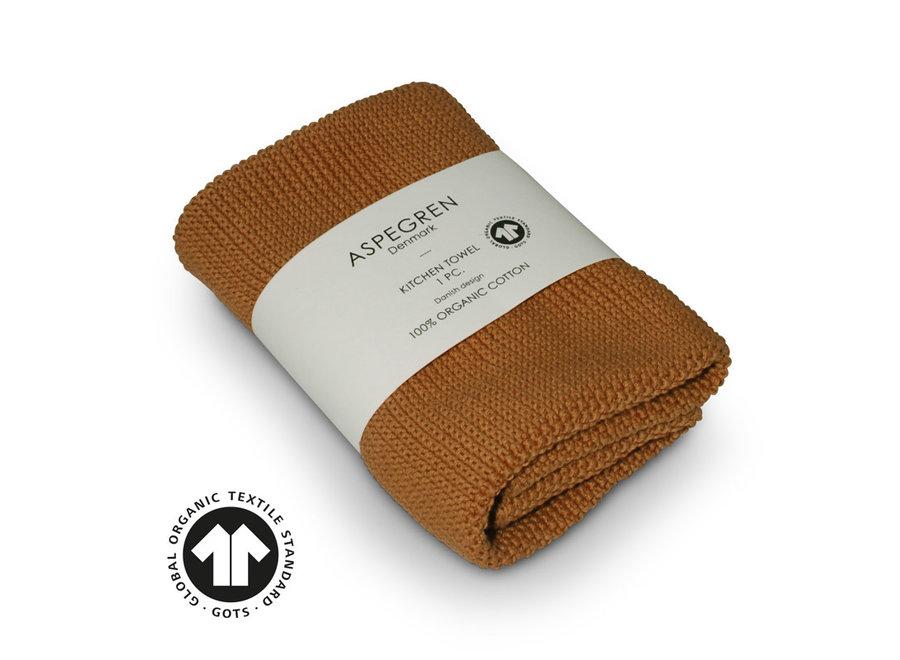 Aspegren Handtuch gestrickt l Solid Inca Gold