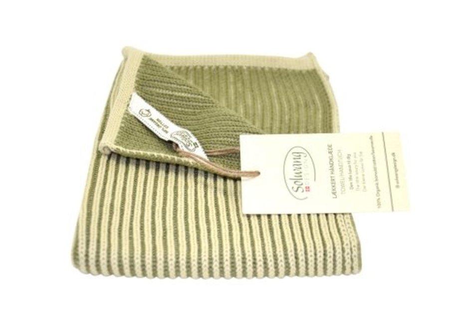 RibRib Handtuch in Oliv Farben von Solwang