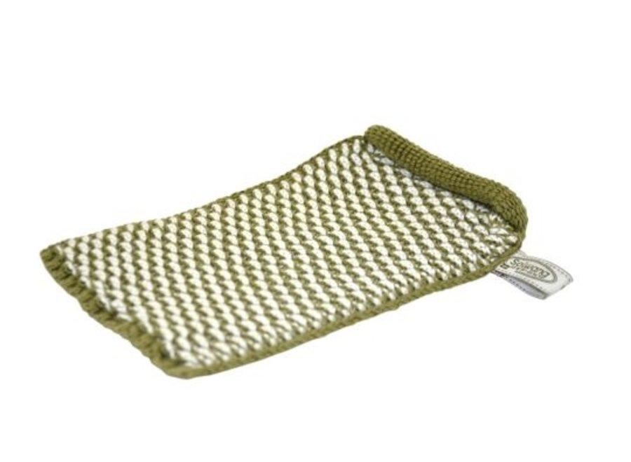 Solwang Waschhandschuh l Olivgrün