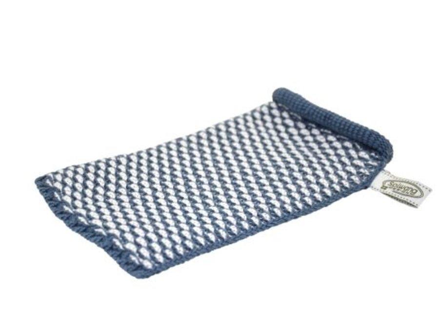 Solwang Waschhandschuh l Dunkles Antikblau