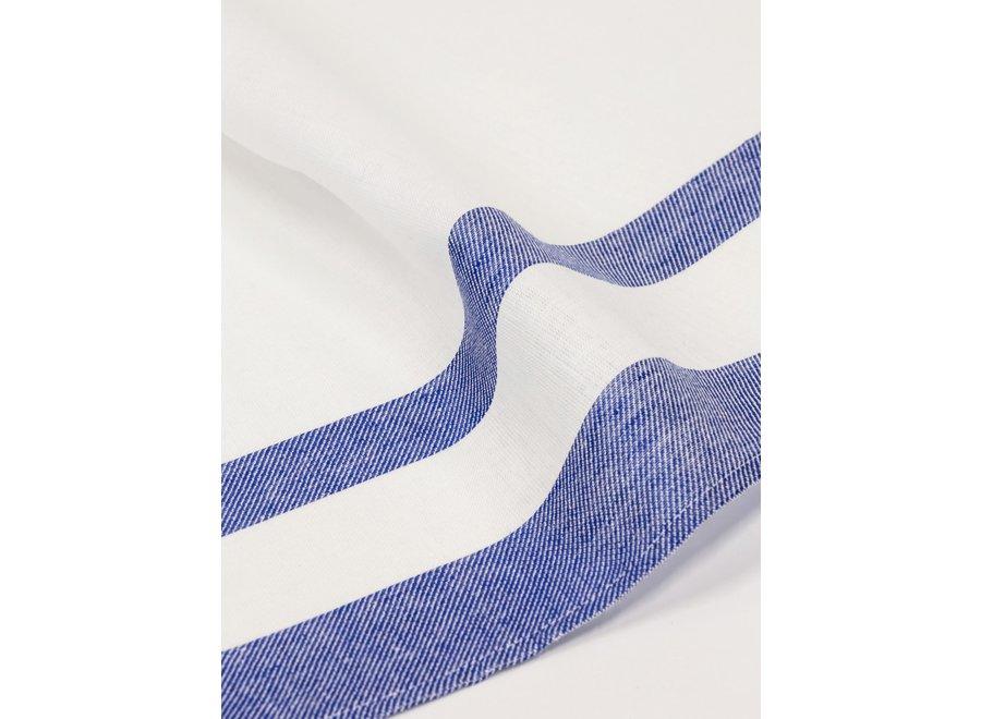 Gläsertuch Blockstreifen in Blau von Vieböck