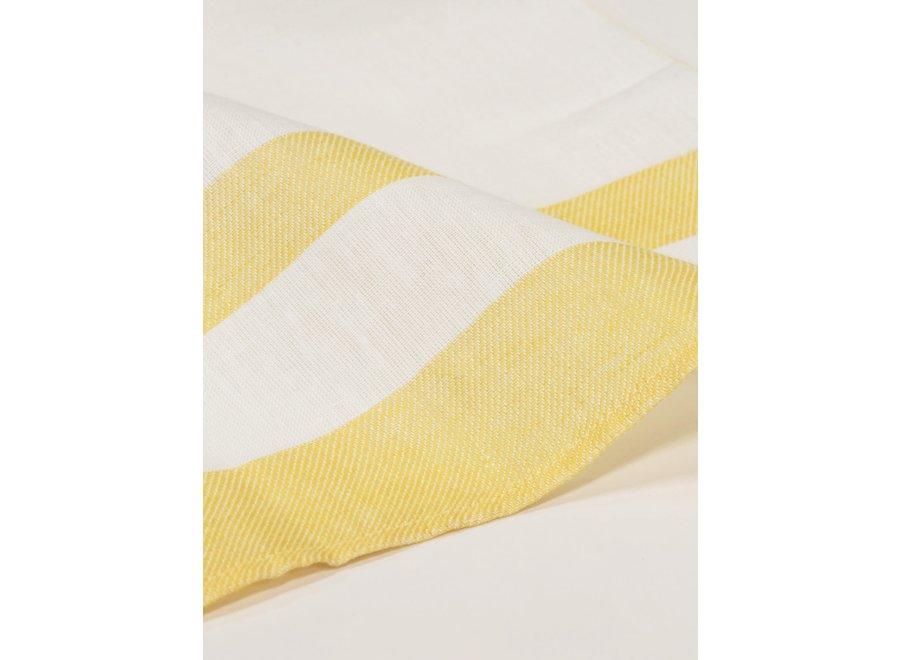 Gläsertuch Blockstreifen in Gelb von Vieböck