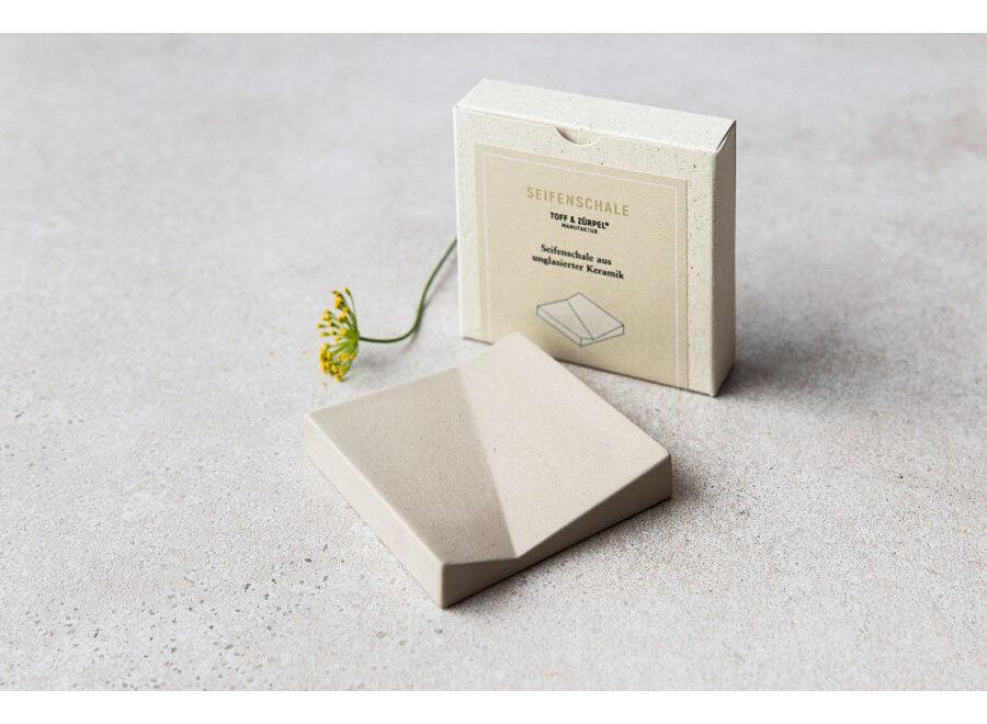 Toff & Zürpel Seifenschale aus Keramik   Natur