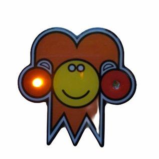 Knipperlampje narrekopje  incl  batterij