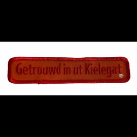 Borduur embleem Getrouwd in ut Kielegat 30x125mm  - Copy