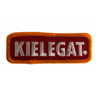 Borduur  Kielegat in rood/oranje witte opdruk