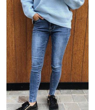 Queen hearts skinny jeans blauw