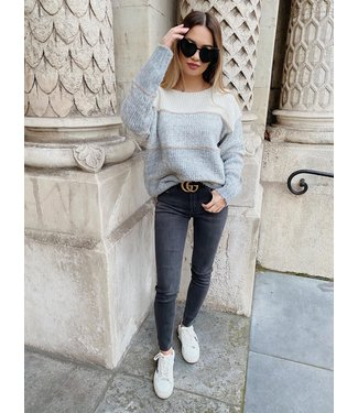 Queen hearts high waisted skinny jeans grijs