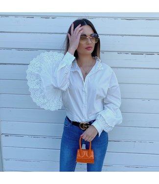 lace ruffle blouse wit