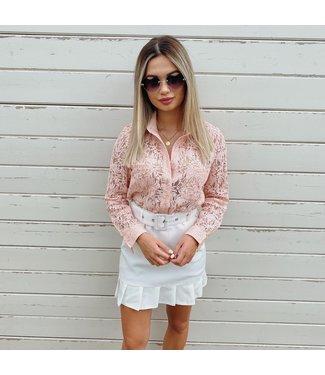 Lace blouse rose