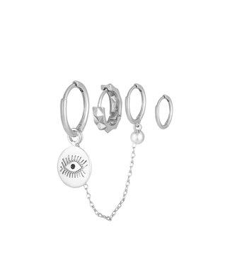 Diamond eye set zilver