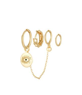 Diamond eye set goud