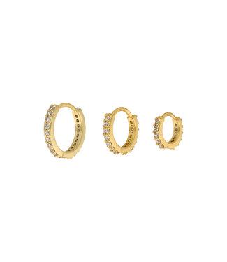 Diamond circle set goud