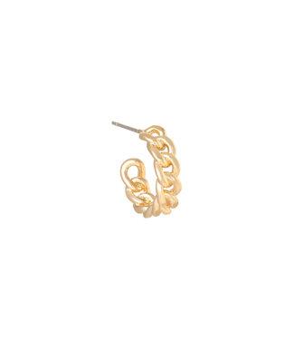Classy chain oorbel goud
