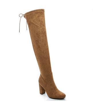 Overknee boots camel