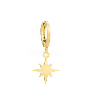 Universe star oorbel goud