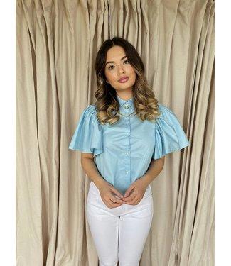 Bow shirt blauw