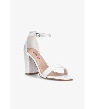 Croco heels wit