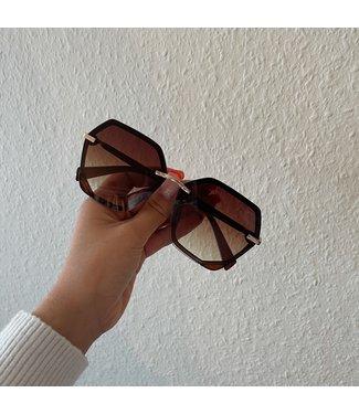 Inez  zonnebril bruin