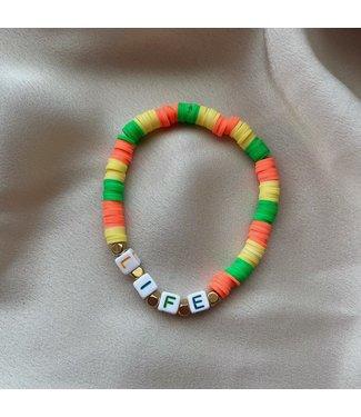 Rainbow life armband