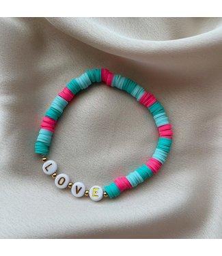 Blue love armband