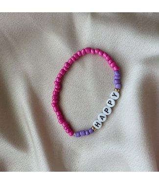 Happy Lila armband