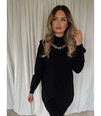Mara knit jurk zwart