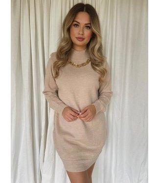 Mara knit jurk beige