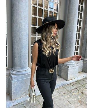 Nisa hoed zwart