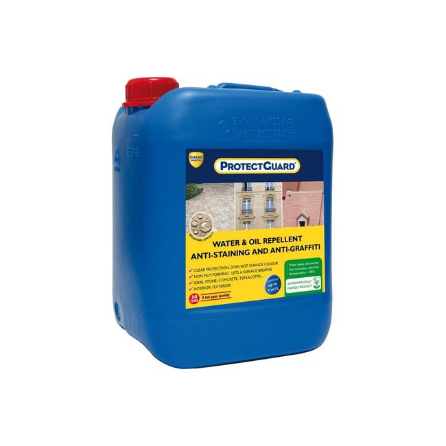 PROTECTGUARD® - Water repellent for porous stone - anti-stain and anti-graffiti