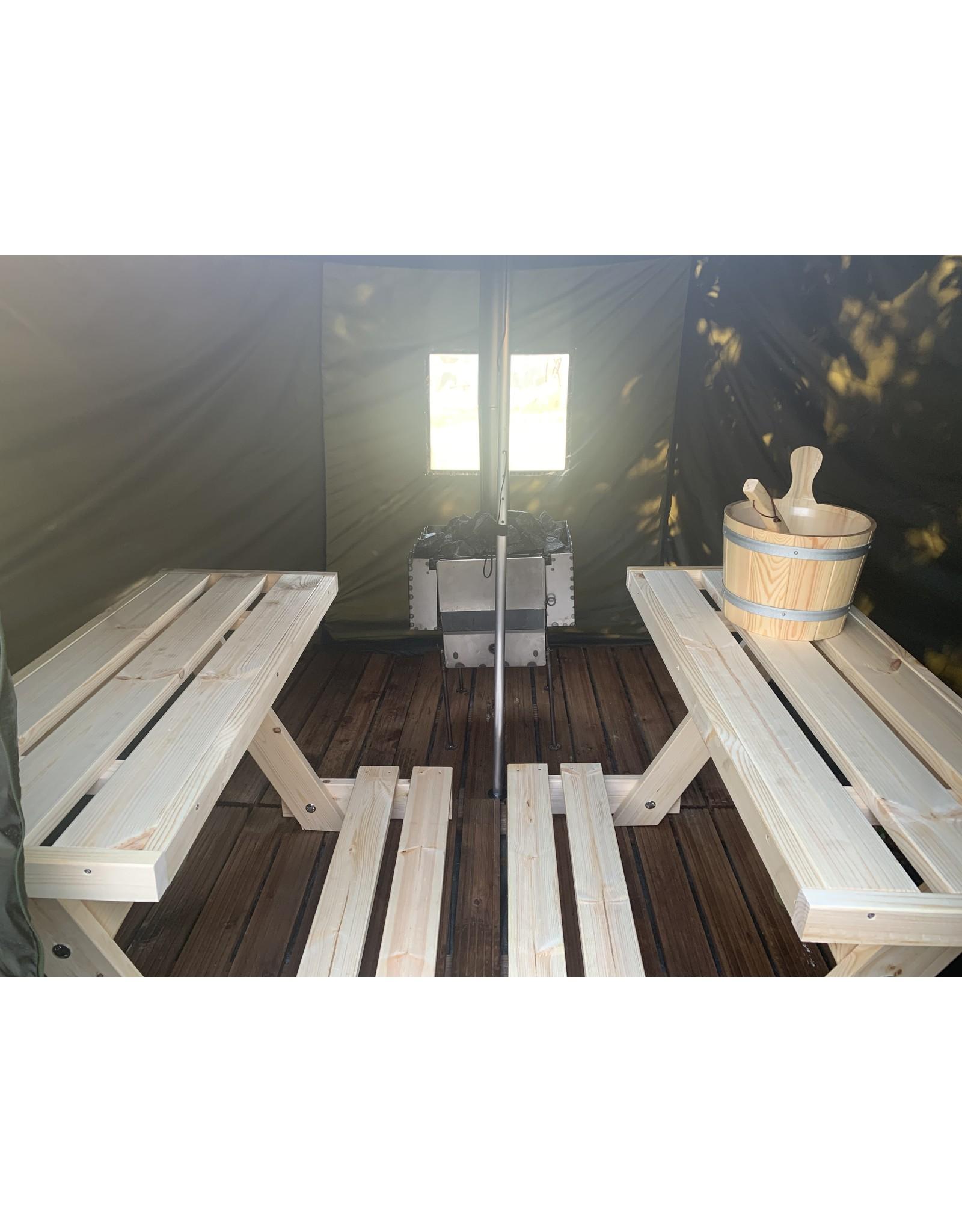 Savotta HIISI 4 Saunazelt mit Ofen