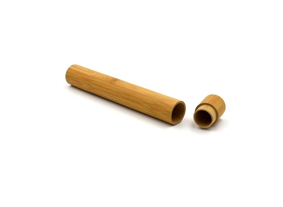 Bamboo Toothbrush Container