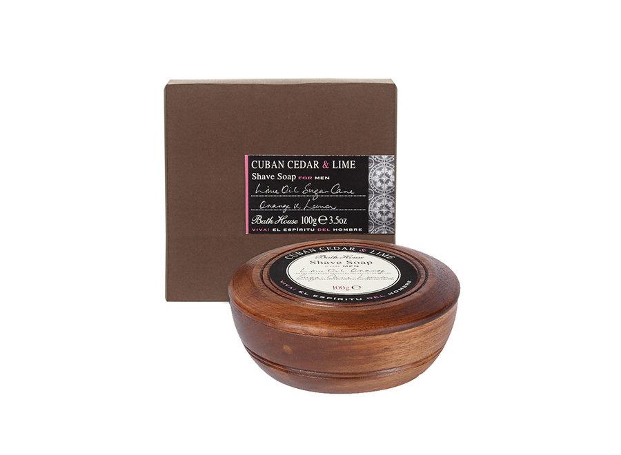 Cuban Cedar en Lime Scheerzeep