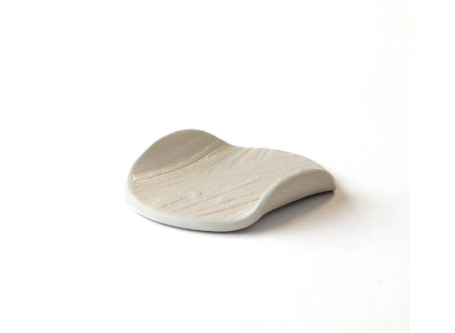 Handmade Soap Dish with Tree Veins