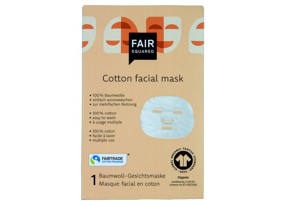 Katoenen gezichtsmasker