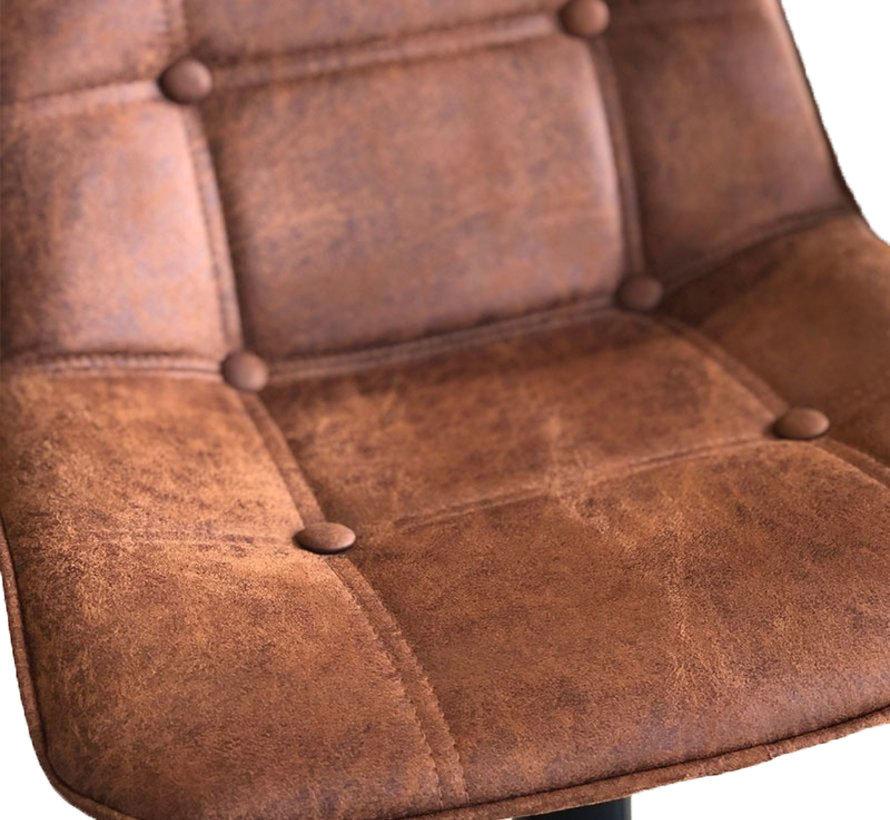 Barhocker Leder Rocky cognac höhenverstellbar 59-77 cm