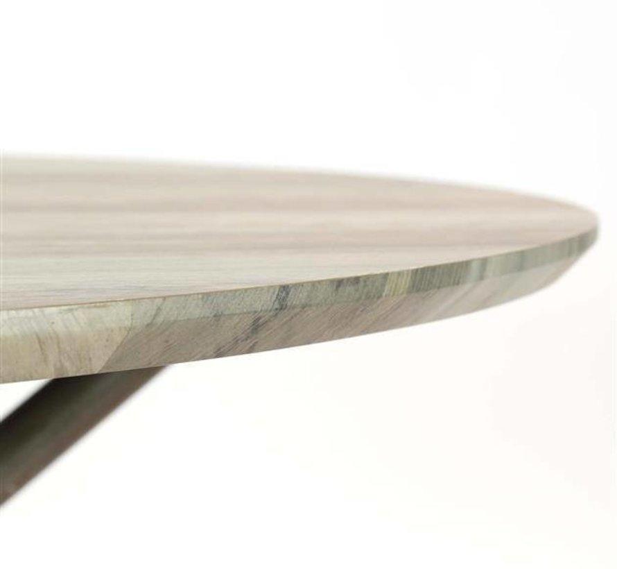 Esstisch Jelle MDF rund Eiche greywash Ø 120x76cm